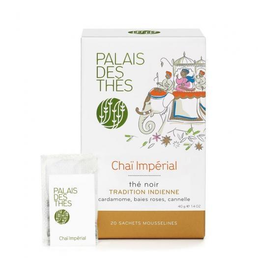 Чай Palais des Thes черный Чай Масала Империаль  в муслиновых пакетиках 20 шт по 2 г