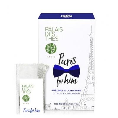 Чай Palais des Thes чёрный париж для него в муслиновых пакетиках 20 шт