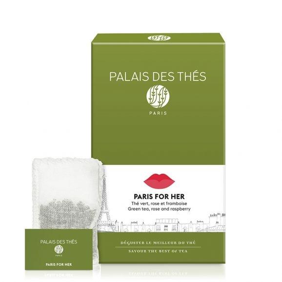 Чай Palais des Thes зелёный париж для нее в муслиновых пакетиках 20 шт