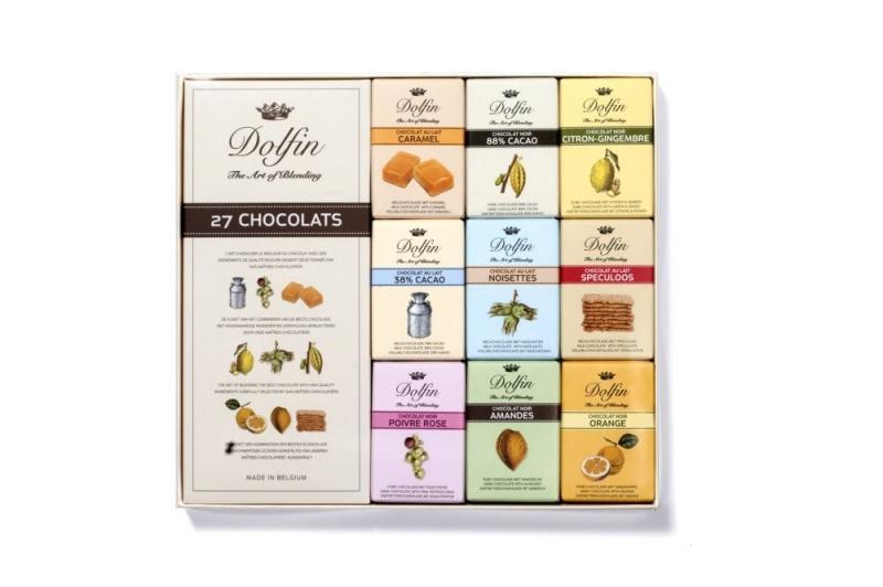 Набор шоколадок Dolfin Pieces 27 в упаковке штук по 10 грамм