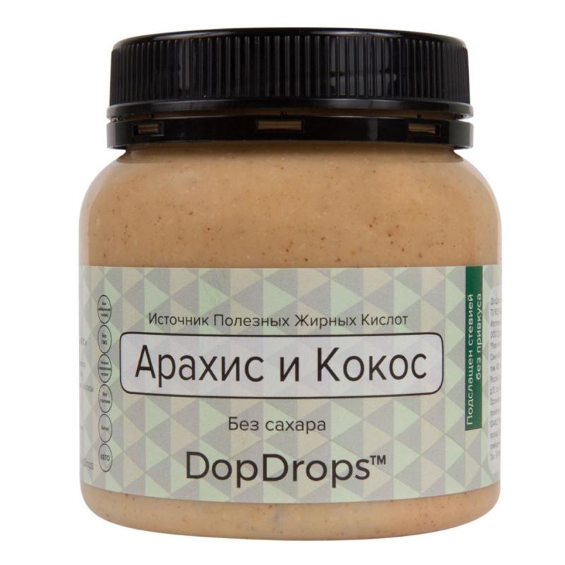 Арахисовая паста DopDrops с кокосом и стевией 250 г
