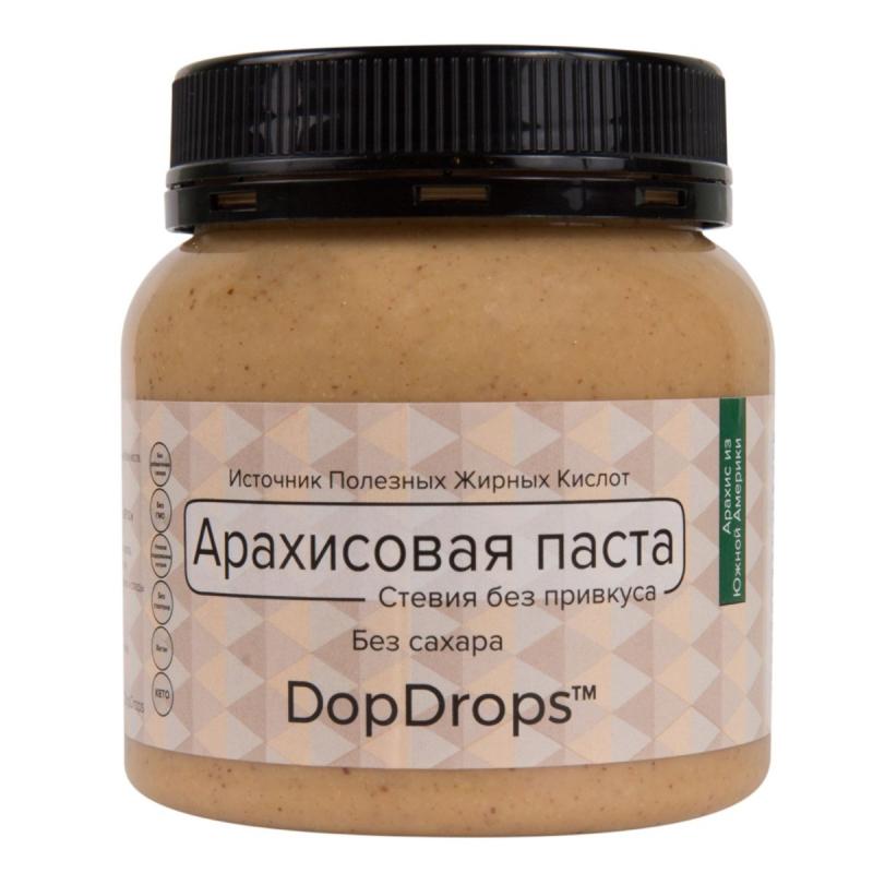 Арахисовая паста DopDrops с морской солью и стевией 250 г