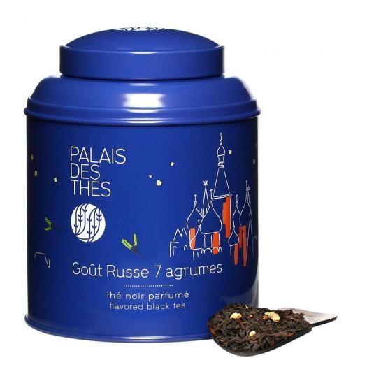 Чай Palais des Thes черный русский купаж 7 цитрусовых - коллекция Оттенки Чая 100 г