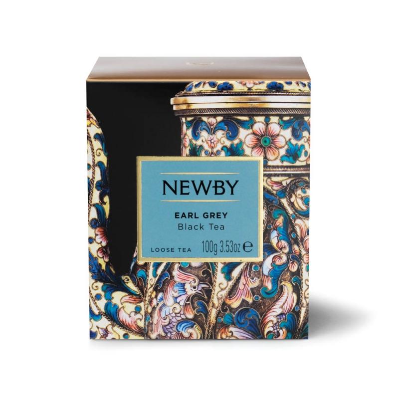 Чай Newby Эрл Грей черный листовой 100 гр
