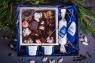 Подарочный набор в упаковке Звездное притяжение из дизайнерской бумаги синего цвета