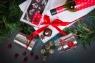 """Подарочный набор в упаковке на магнитах из дизайнерской бумаги с эффектом """"шелка"""" белоснежный"""