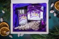 Подарочный набор в упаковке Созвездие удачи с элементами декора белоснежный