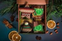 Подарочный набор в упаковке Классик из гофры повышенной плотности бронзовый