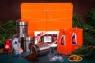 Подарочный набор в упаковке «Элегант» из дизайнерской бумаги оранжевого цвета