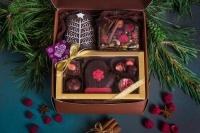 Подарочный набор в упаковке Классик из гофры бронзовый