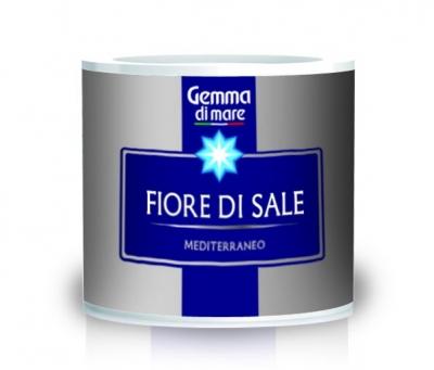 Соль Gemma Fiore Di Sale натуральная морская первой кристаллизации 125 грамм