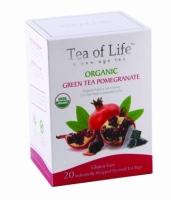Чай в пирамидках органический Tea of life Зеленый чай сгранатом