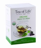 Чай в пирамидках органический Tea of life Зеленый тонизирующий