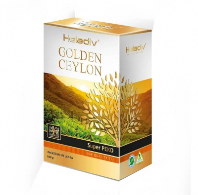 Черный чай Heladiv Golden Ceylon OPA Big Leaf рассыпной 100 г