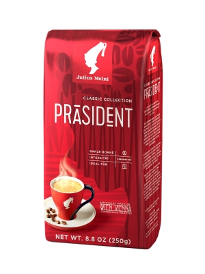 Кофе в зернах Julius Meinl Президент Классическая коллекция 250 г