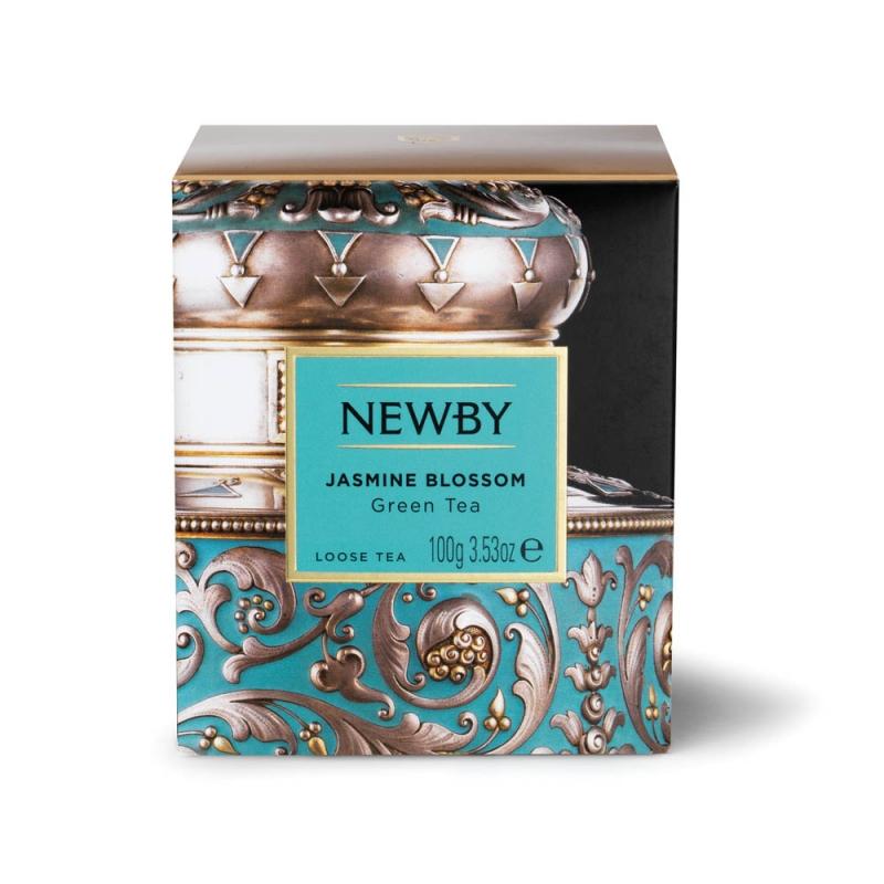 Чай Newby Цветок Жасмина зеленый листовой 100 гр