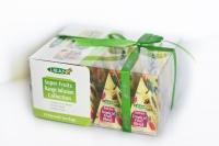 Фруктовая коллекция подарочная коллекция чая Liran Super Fruits в пирамидках 12шт 24 г