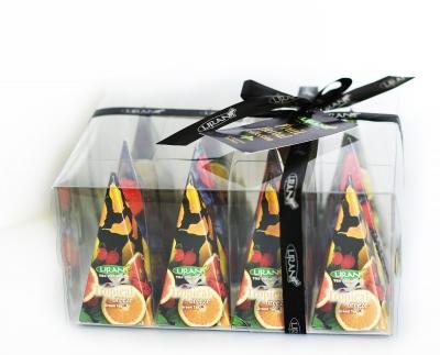 Фруктово-травяная подарочная коллекция чая Liran Fruit & Herbal в пирамидках 12 шт 24 г