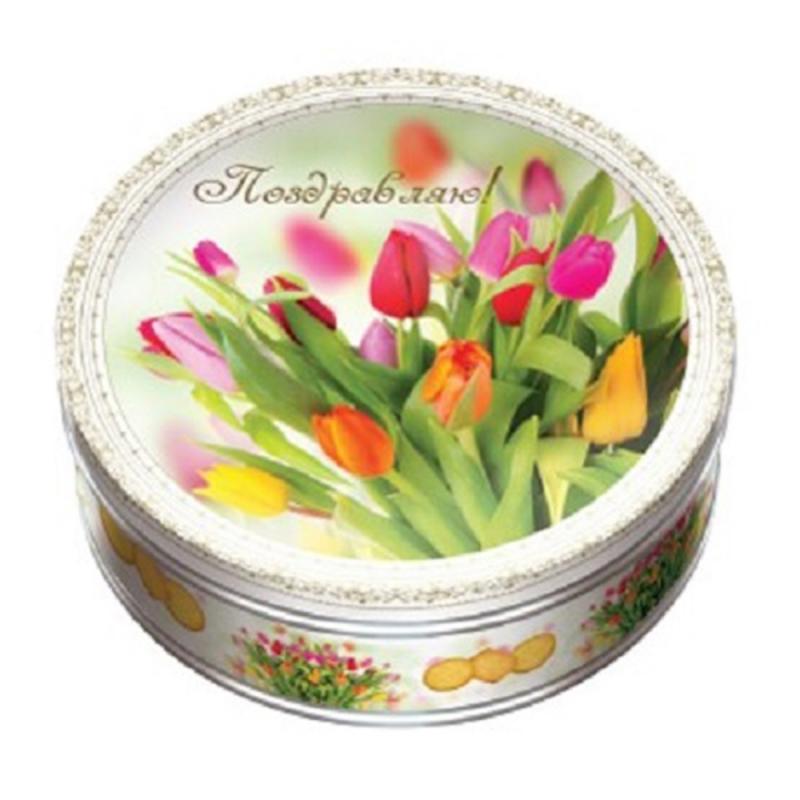 Печенье МОНТЕ КРИСТО Тюльпаны 400 г