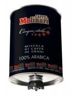 Molinari Cinque Stelle 100% arabica (Молинари Пять звезд) кофе в зернах в ж/б 3 кг