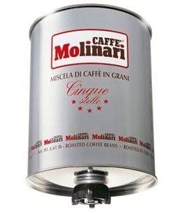 Molinari Cinque Stelle (Молинари 5 звезд) кофе в зернах в ж/б 3 кг