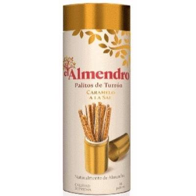 Туррон EL ALMENDRO палочки хрустящие миндальные с карамелью 50 г