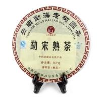 """Чай Пуэр шу """"Лао Шу"""" Мэнхай  357 г (блин)"""