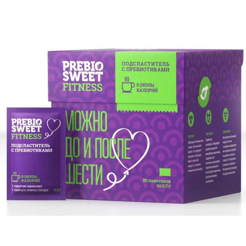 Заменитель сахара PrebioSweet Fitness Box 80 пакетиков по 0,5 грамм