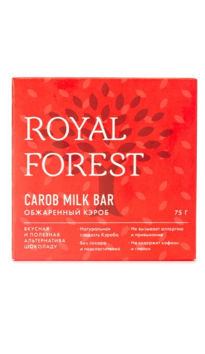 Royal Forest Carob Milk Bar Обжаренный кэроб 75 гр