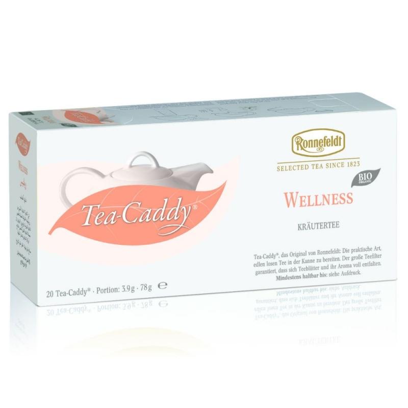 Ronnefeldt Tea Caddy Wellness Tea Чай Ройбош, Анис, фенхель, листья мяты, листья еживики, лимонник в пакетиках 20 штук  в упаковке 78 гр