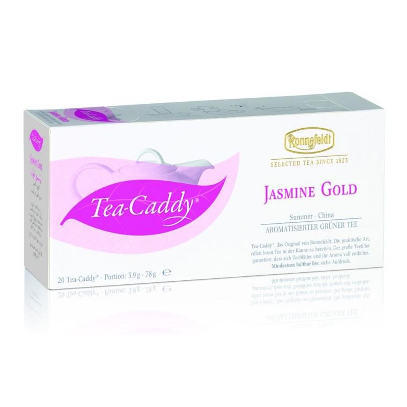 Ronnefeldt Tea Caddy Jasmine Gold Жасмин Голд Ароматизированный зелёный чай в пакетиках 20 штук  в упаковке 78 гр