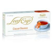 Ronnefeldt Leaf Cup Cream Orange Крим Оранж : Ройбуш, цедра апельсина, кусочки ванили в пакетиках 15 штук в упаковке 45 гр