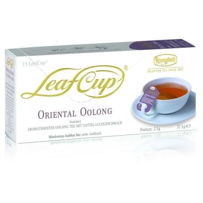 Ronnefeldt Leaf Cup Oriental Oolong Восточный Улун Ароматизированный Улун со вкусом финика и наранхиллы в пакетиках 15 штук в упаковке 34,5 гр