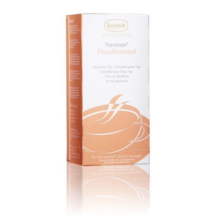 Ronnefeldt Teavelope Decaffeinated Декофеинированный Чёрный чай в пакетиках 25 штук  в упаковке 37,5 гр