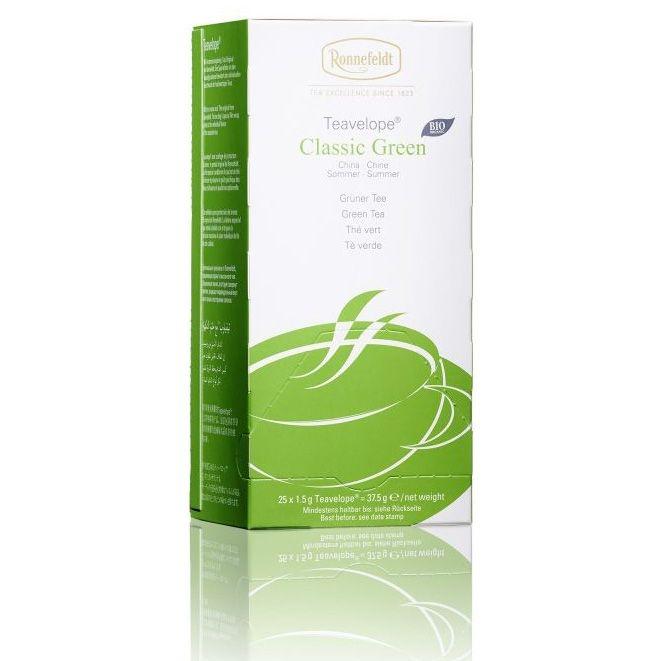 Ronnefeldt Teavelope Classic Green BIO Классический зеленый чай в пакетиках 25 штук  в упаковке 37,5 гр