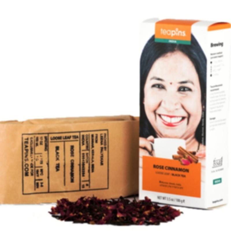 Чай черный Farmer's Tea с розой и корицей 80 г Индия