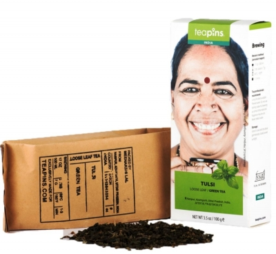Чай зеленый Farmer's Tea с базиликом 80 г Индия