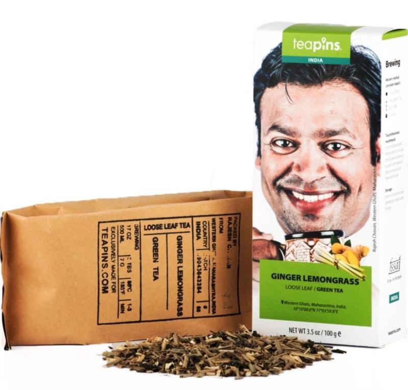 Чай зеленый Farmer's Tea с имбирем и лемонграссом 80 г Индия