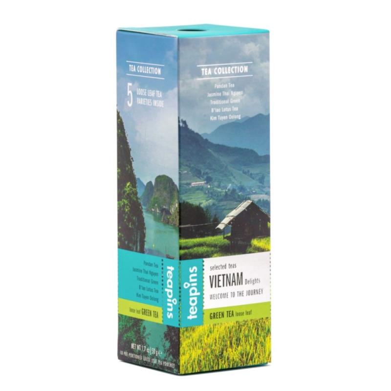 Чай листовой Sense Asia Vietnam Delights ассорти 5 видов зеленого чая 50 г