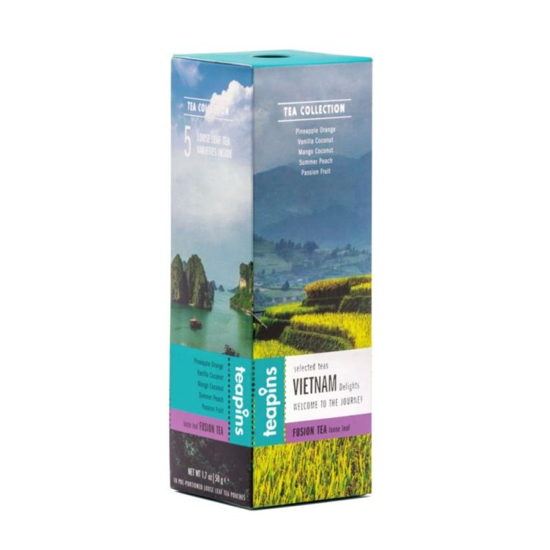 Чай листовой Sense Asia Vietnam Delights ассорти 5 видов смешанного чая 50 г