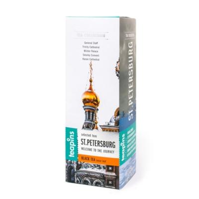 Подарочная коллекция листового чая Saint Petersburg Teapins 5 видов черного чая 50 г