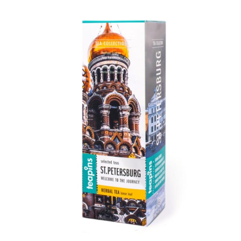 Подарочная коллекция листового чая Saint Petersburg Teapins 5 видов травяного чая 50 г