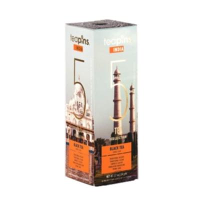 Подарочная коллекция листового чая India Teapins 5 видов черного чая 50 г