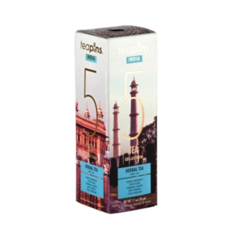 Подарочная коллекция листового чая India Teapins 5 видов травяного чая 50 г