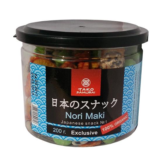 Tako Samurai Нори Маки Японский крекер микс 200 г
