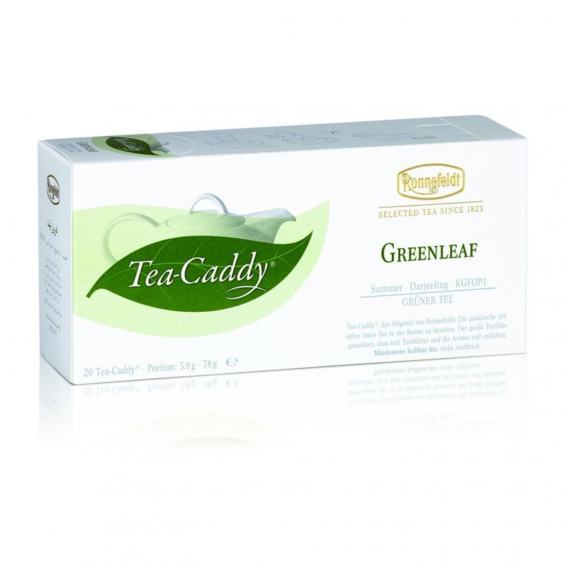 Ronnefeldt Tea Caddy Bio Greenleaf Гринлиф Зеленый чай в пакетиках 20 штук  в упаковке 78 гр