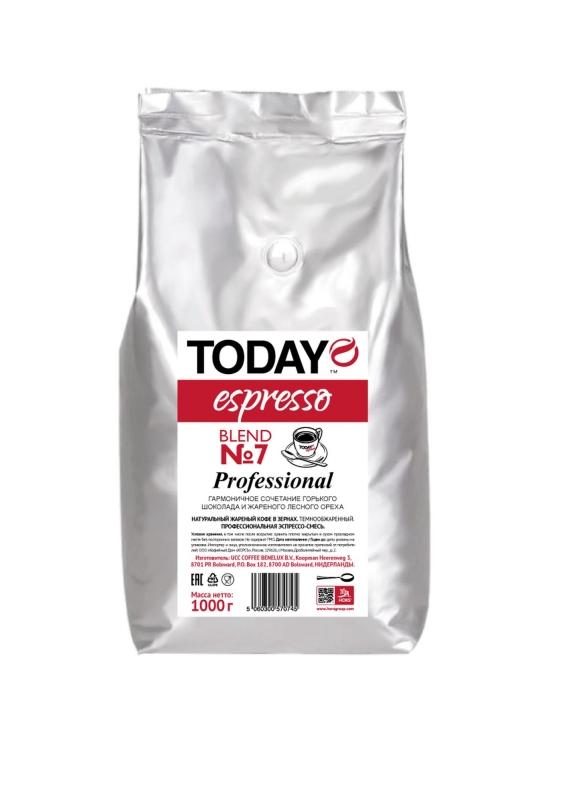 Кофе зерновой Today Espresso Blend 7 1 кг