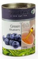 Чай зеленый листовой Tea of Life Blueberry (Тиа оф Лайф с голубикой) 100 гр