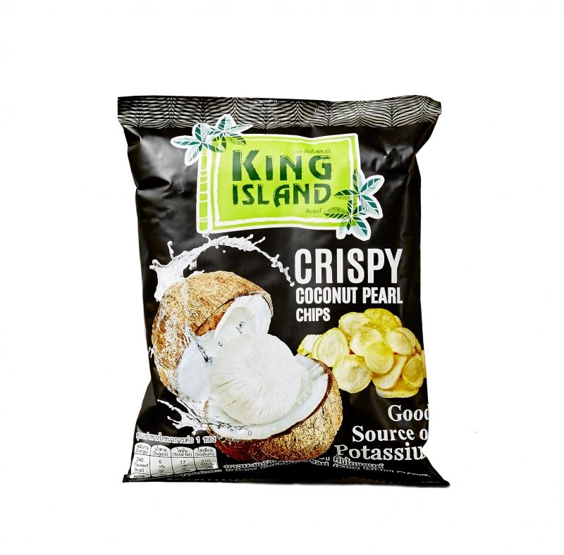 Кокосовые чипсы King Island из сердцевины пророщенного кокоса 40 г