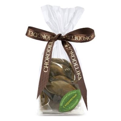 Chokodelika яблочные кусочки в шоколаде с карамелью 80 гр